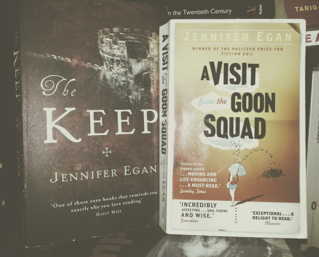 book covers of jenifer egan the keep and a visit from the goon squad