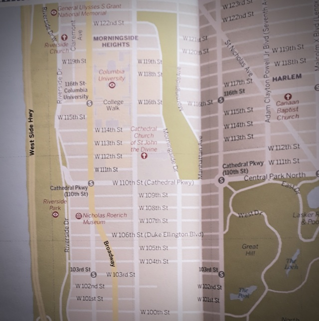 map of manhattan's upper west side