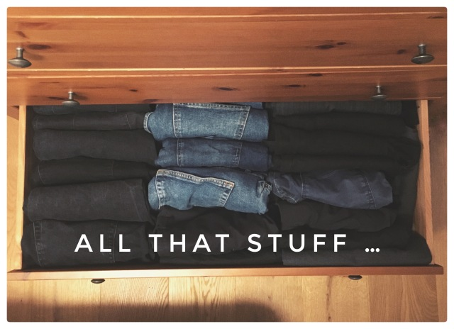drawer full of pants