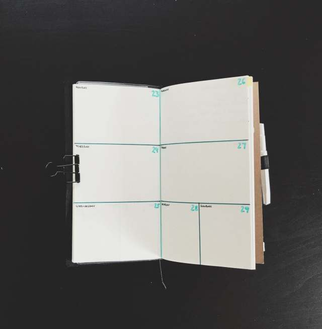 TN Bujo weekly spread
