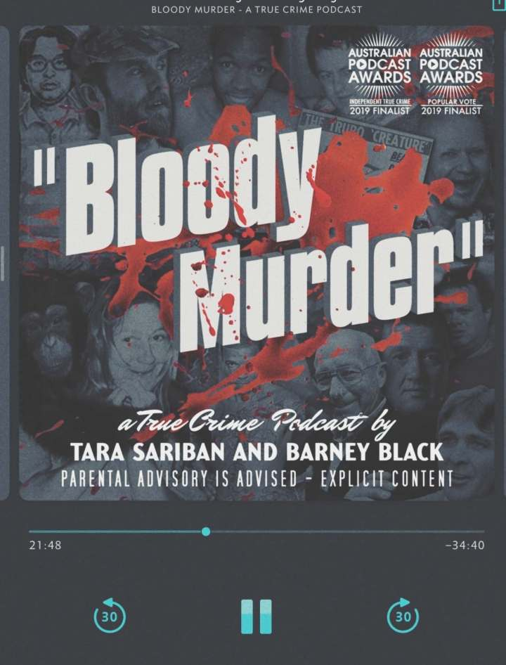 screenshot bloody murder podcast on player