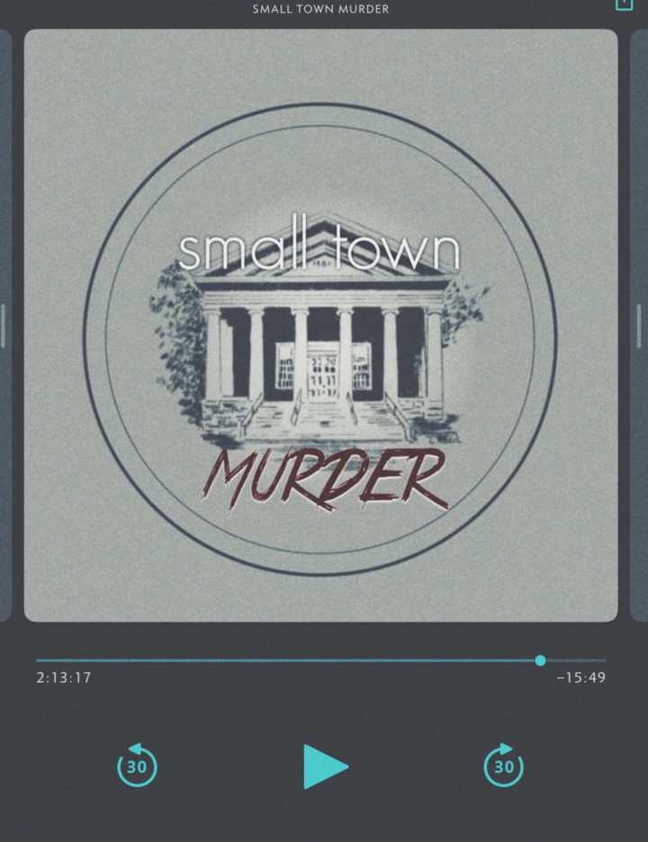 screenshot small town murder podcast on player