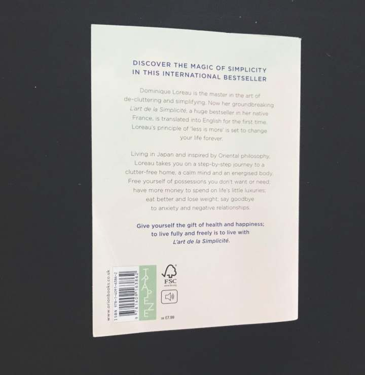 picture of the blurb of Dominique Loreau's book