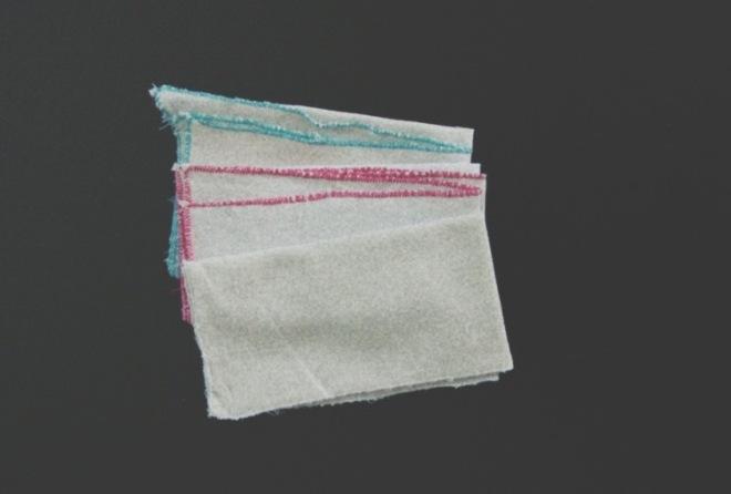 three DIY handkerchiefs not very good sewing