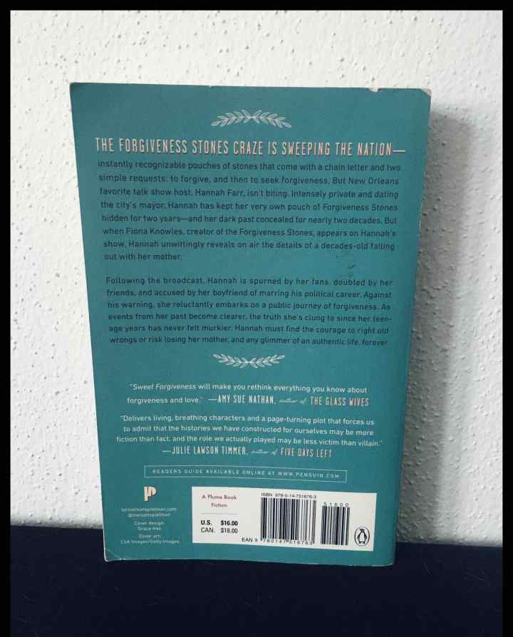 back of book cover with blurb
