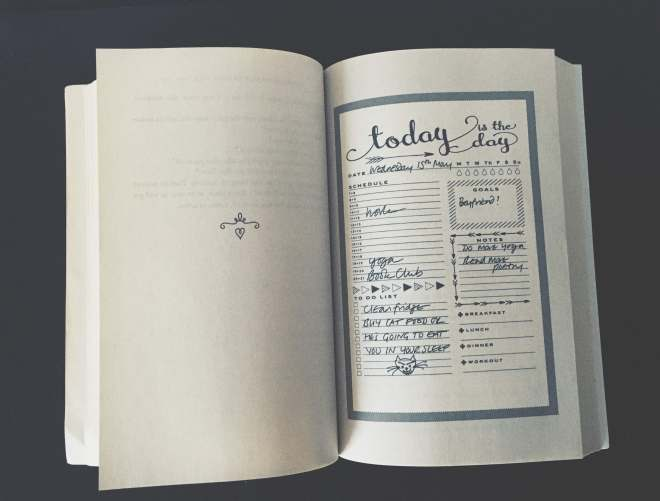 planner layout from the book The Bookish life of Nina Hill