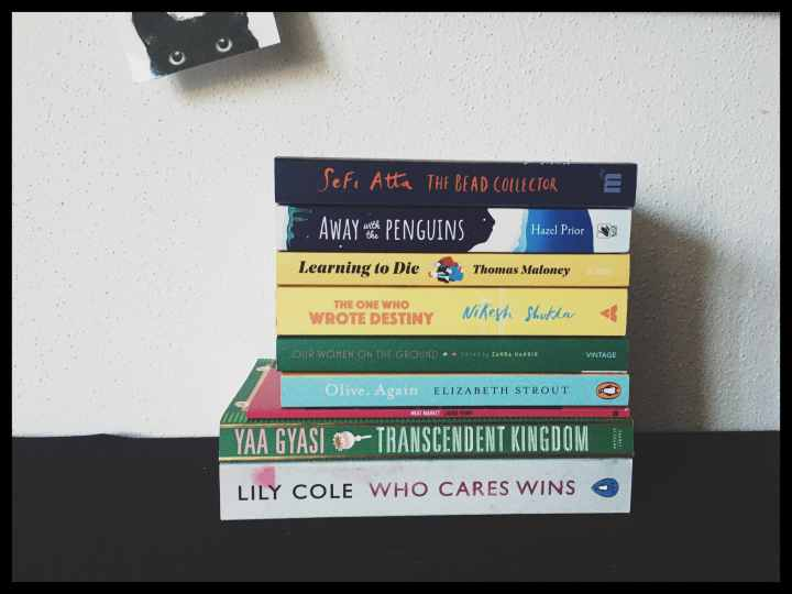 Stack of books on my self