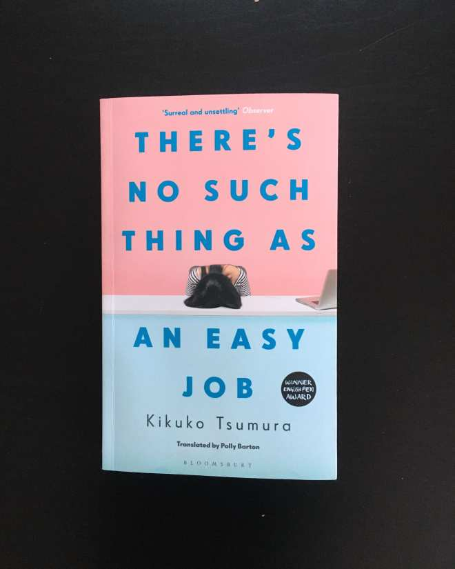 book cover kikuko tsumura There's no such thing as an easy job flatlay photograph