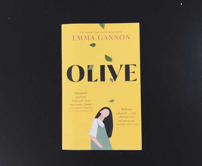 book cover black background Olive by Emma Gannon
