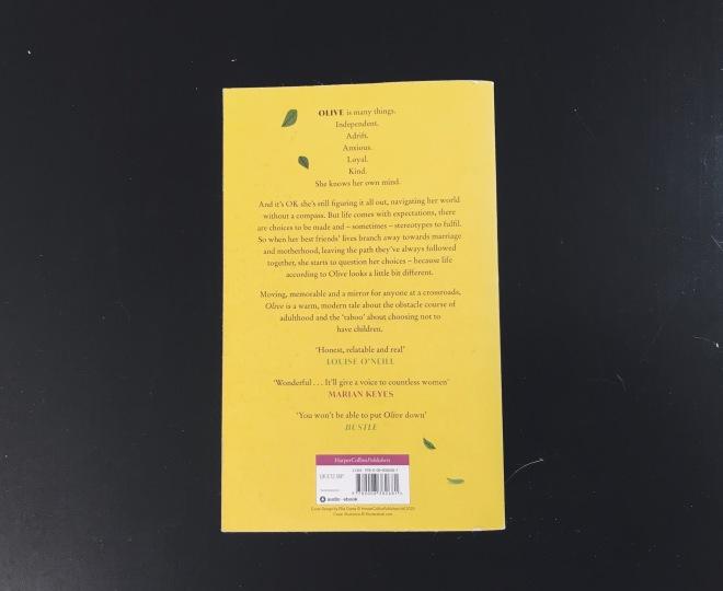 blurb on the back of emma gannon's olive